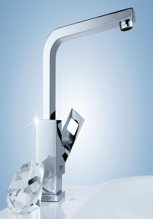 grohe eurocube einhand waschtischbatterie 23135 00e. Black Bedroom Furniture Sets. Home Design Ideas
