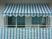 Angerer Klemm-Markise (250 x 150 cm) blau-weiß