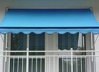 Angerer Klemm-Markise (250 x 150 cm) blau-beige