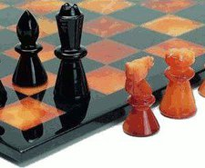 Weible Spiele Schachspiel aus Alabaster 43/75