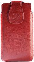 SunCase Handytasche Vollnarbig Rot (Nokia Lumia 1020)
