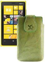 SunCase Ledertasche Wash Grün (Nokia Lumia 625)
