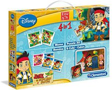 Clementoni Edukit - 4 in 1 - Jake and the Never Land Pirates (13797)