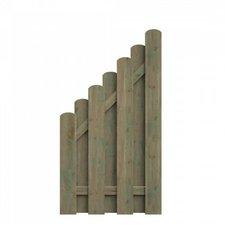 Delta Gartenholz Bohlenzaun Abschluss BxH: 90 x 160/90 cm