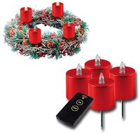 Heitronic LED Adventskranzkerze 4er Set (39930)