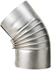 Muldenthaler Bogen gerippt 45° ohne Reinigungsöffnung FAL Ø 130 mm (2BG45130)