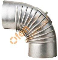 Muldenthaler Bogen gerippt 90° mit Reinigungsöffnung (2BG-90RÖ)