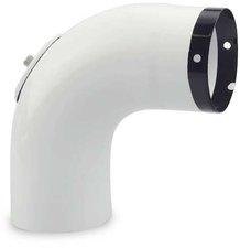 Muldenthaler Bogen glatt 90° mit Reinigungsöffnung emailliert (1BGG-90RÖ)