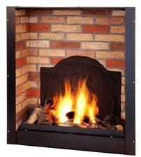 Ruby Fires Bio Flame gross mit Steinmotiv und Medaillon