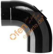Muldenthaler Bogen glatt 90° mit Reinigungsöffnung emailliert ø 150 mm (1BGG-90150RÖ)