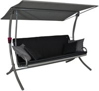 Angerer Royal Style Hollywoodschaukel 3-Sitzer (Design Style schwarz)