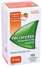 Pharma Gerke Nicorette 4 mg Freshfruit Kaugummi (105 Stk.)