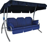 Angerer Ibiza Hollywood-Schaukel 3-Sitzer (Design Faro blau)