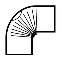 Muldenthaler Bogen gerippt 90° mit Reinigungsöffnung FAL pu weiß (2BG-90RÖW)