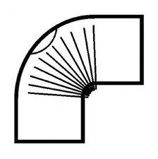 Muldenthaler Bogen gerippt 90° mit Reinigungsöffnung FAL pu weiß Ø 110 mm (2BG-90110RÖW)