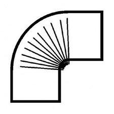 Muldenthaler Bogen gerippt 90° ohne Reinigungsöffnung FAL pu weiß (2BG-90W)