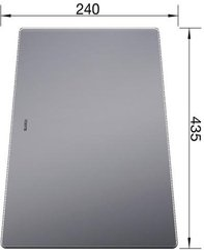 Blanco Sicherheitsglas Schneidbrett 43,5 x 24 cm