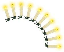 TV Das Original kabelloses Christbaumkerzen Kerzenzauber Echtwachs 10 teilig