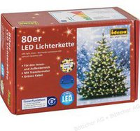 Idena LED-Lichterkette 80er warmweiß (8325058)