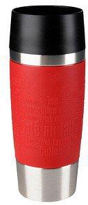 Emsa Travel Mug Isolier-Trinkbecher 0,36 l mit roter Manschette