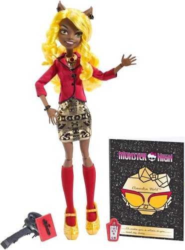 Mattel Monster High Licht aus. Grusel an! Clawdia Wolf