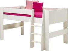 Steens Furniture Ltd for Kids Hochbett mit Leiter halbhoch (613/50) - weiß