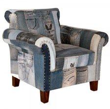 SalesFever Einzelsessel Indigo Patchwork Jeans groß