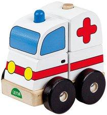 Lena Holzsteckfahrzeug Krankenwagen