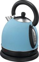 Exido British Style Wasserkocher Blau
