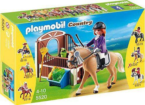 Playmobil Country - Warmblut mit Pferdebox (5520)
