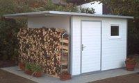 NWS Gartenhaus Pultdach 250 x 300 cm (Stahl)