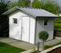 NWS Gartenhaus Satteldach 150 x 350 cm (Stahl)