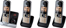 Panasonic KX-TG6724 Quartett schwarz