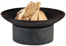 Esschert Gusseiserne Feuerschale mit Granitsockel 59 cm