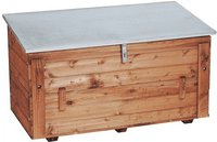 Triuso Streugutbehälter aus Holz 130 x 65 x 70cm
