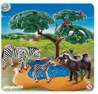 Playmobil 4828 Kaffernbüffel mit Zebras