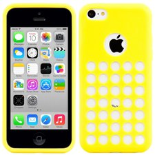 KW-Orange Silikon Case Dots (iPhone 5C)