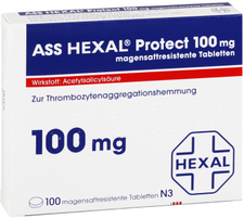 Hexal ASS Protect 100 mg magensaftresistente Tabletten (100 Stk.)