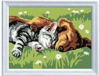 Ravensburger Malen nach Zahlen - Hund und Katze