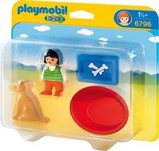 Playmobil 123 - Mädchen mit Hund (6796)