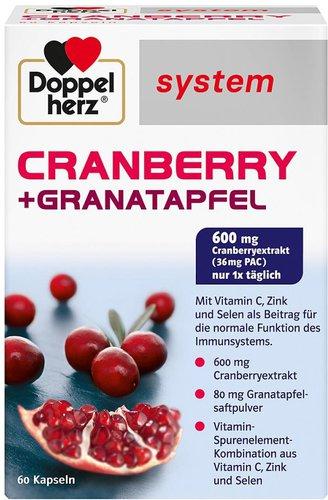 Doppelherz System Cranberry + Granatapfel Kapseln (60 Stk.)