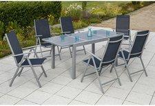 Merxx Amalfi Gartenmöbelset 5-tlg. (Tisch + 4 Klappsessel)