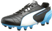 Puma Momentta FG Jr black/white/fluo blue