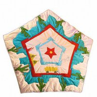 Win Green Cowboy Wigwam - Floor Quilt