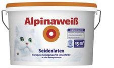 Alpina Farben Alpinaweiß Seidenlatex 2 Liter