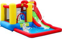 Happy Hop Slide & hoop bouncer (with water slide)