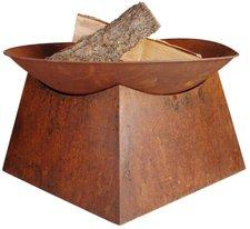 Esschert Feuerschale mit Sockel Rost 33 x 57 x 57 cm