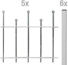 GAH Madrid Metall-Zaun-Grundset BxH: 10 x 0,5 m