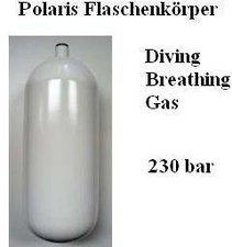 Polaris Diving Tauchflasche Stahl 7 L 232 bar
