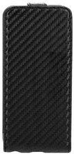 XQISIT Flipcover Carbon Case (iPhone 5C)